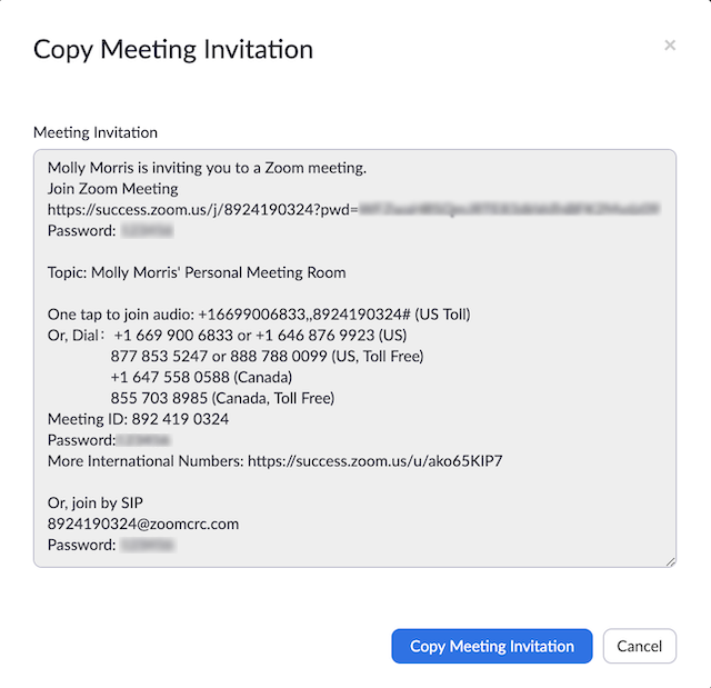 How to invite someone to join a Zoom Meeting?