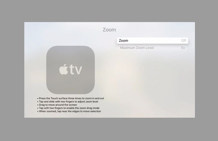 Zoom for Apple TV