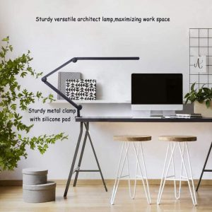 Desk Lamp with Clamp, Eye-Care Swing Arm Desk Lamp