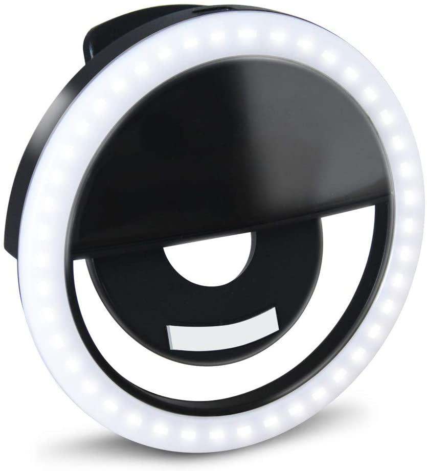 GLOUE Selfie Light Ring Led Circle Clip-on Selfie Fill Light