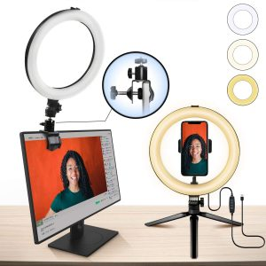 10 Inch Ring Light MACTREM LED Light Ring with Tripod, Clamp & Phone Holder