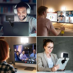 ULANZI Notebook Computer Suction Mount Lighting Kits for Remote Working Zoom Calls