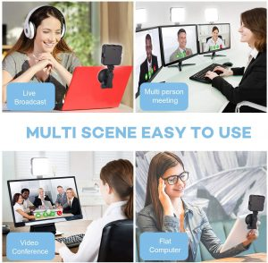 ATKAN Video Conference Lighting Kit for Remote Working, Lighting for Video Conferencing, Zoom Calls, Broadcast, Live Streaming,Adjustable Video Light