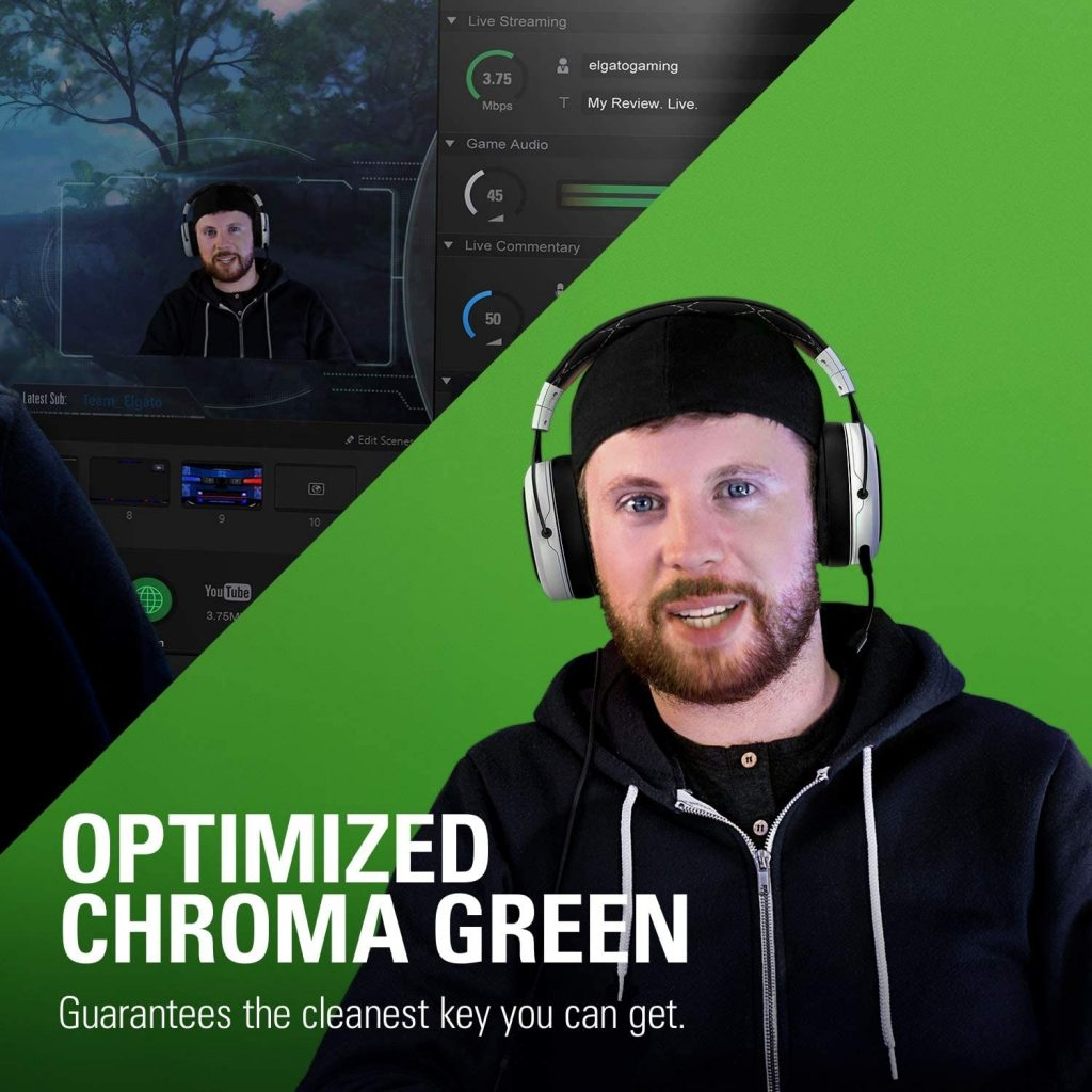 Elgato Green Screen MT - Mountable chroma key panel for background removal