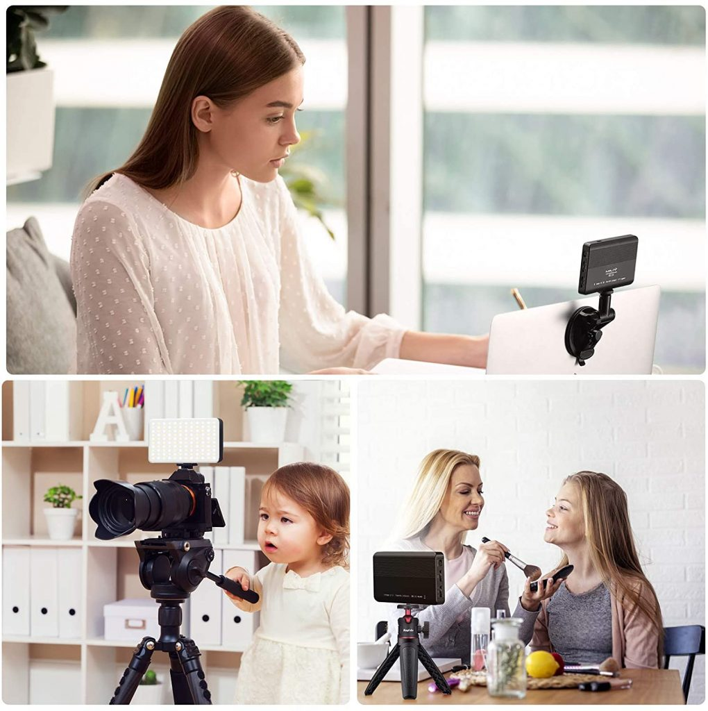 Rayfoto Video Conferencing Lighting for Laptop with Tripod and Suction Cup