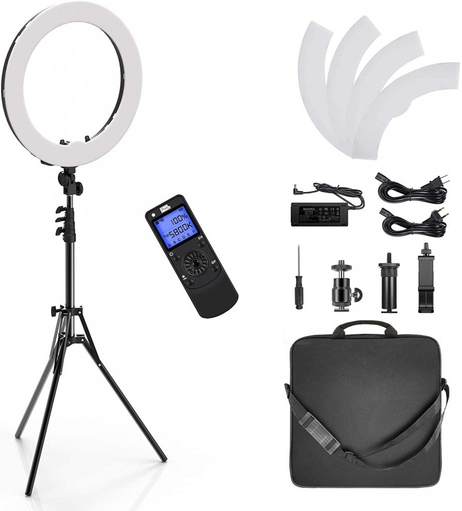 Pixel Ring Light, 19inch Selfie Ring Light with Wireless Remote Control