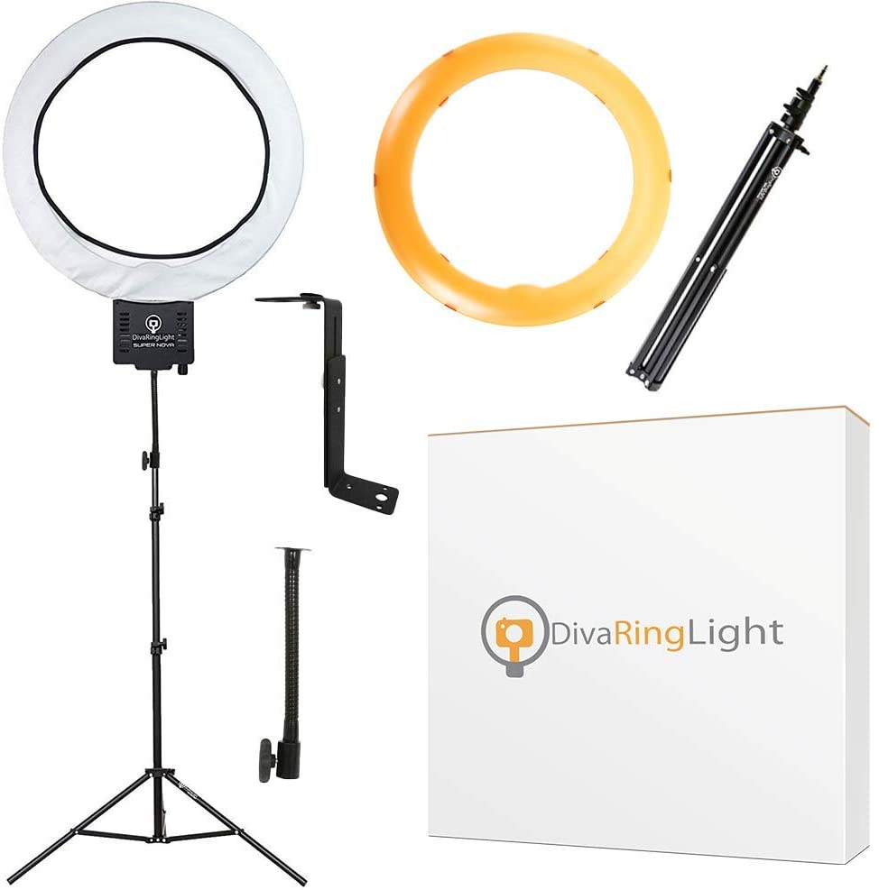 Diva Ring Light Super Nova 18 inch Dimmable with 6 inch Stand