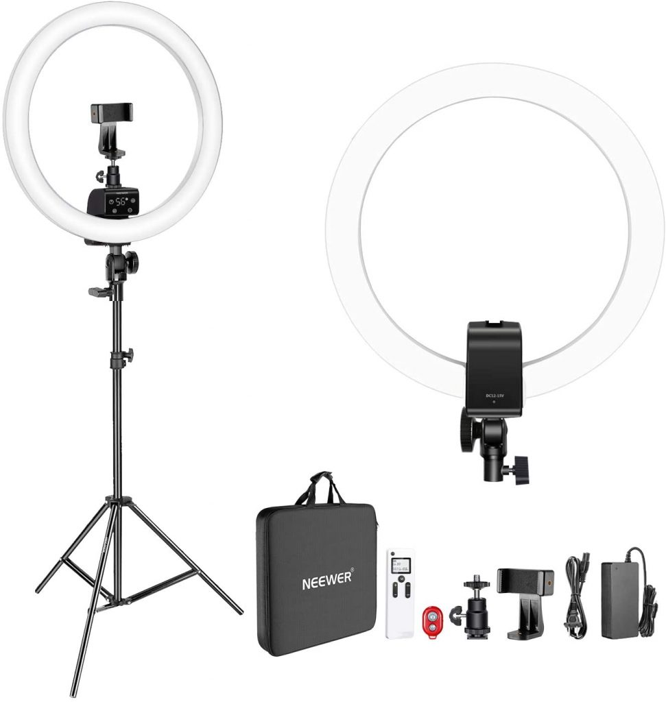 Neewer Advanced 16-inch LED Ring Light Support Manual Touch Control with LCD Screen